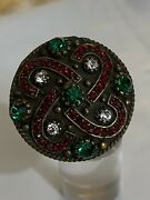 Victorian And Rare Sterling Silver 925 Ece Sapphire Ring