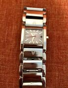 Nixon Watch In Charge The Boss / Amazing/original Bracelet Silver Dial Red Hand