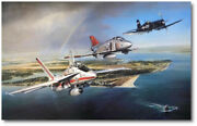 Thunder Over The Patuxent By John Shaw - Giclee Canvas - Aviation Art Print