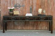 Antique Fretwork Lacquered Altar Table