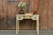 Antique Bleached English Lowboy Side Table