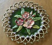 Rare Limited Edition Jay Strongwater Pink Oleander Fiji Flower Collectible Plate
