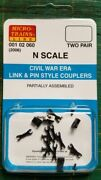 N Micro Trains 001 02 060 Civil War Era Link And Pin Style Couplers 2006
