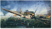 By The Dawnand039s Early Light By John Shaw - Curtiss P-40 Warhawk - Giclee Canvas