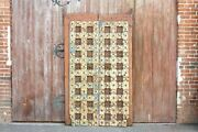 Antique Painted Indian Temple Doors