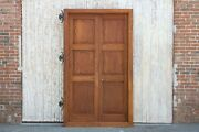 Antique British Colonial Teak Doors With Frame