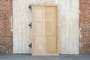 Antique Bleached English Colonial Teak Door W/ Frame