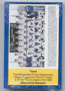 1990 Milwaukee Brewers Police Sealed Set 30 Cards Yount Molitor Cooper