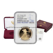 2021-w 50 Gold Eagle Ngc Pf70ucam Early Releases Ultra Cameo Proof W/ Ogp