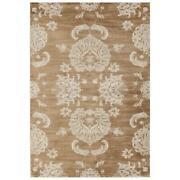 Mda Home Antique 8and039x11and039 Floral And Botanical Fabric Area Rug In Gold/brown