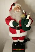 """24"""" Animated Holiday Figure Santa Clause Posable Holiday Creations Vintage"""