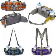 Fanny Pack Waist Bag For Hiking Fishing With 2 Water Bottle Holder Lumbar Pack