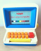 1980s Vintage Retro Tomy Tutor Play Computer Keyboard Tv Learning Toy Rare