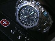 Authentic Wenger Swiss Army 27 Jewel Gst Sea Aquagraph All St/st 78589 New