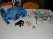 Playskool Star Wars Galactic Heroes Tie Fighter W/ Darth Vader And Xwing And Luke