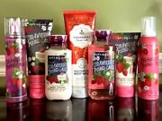 Bath And Body Works Lot Of 7 Strawberry Pound Cake Whipped Body Scrub Mousse Etc