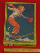 Vintage Women Skiing Genesee Picture Puzzle Box