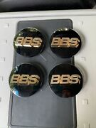 Bbs Wheel Center Cap Part Number 09.23.221 Black/ Gold Made In Germany4 Pcs
