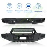 Heavy Front Rear Bumper For 2016-19 Toyota Tacoma W Led Light Winch Plate D-ring