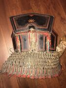 Antique Chinese Yi-people Lacquered Hide Armor Not Sword