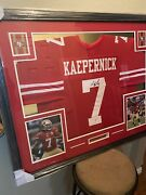 Colin Kaepernick Authentic Autograph Framed Jersey Coa Psa Nfl 49ers