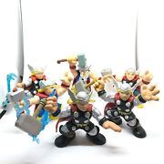 Marvel Super Hero Squad Thor Figure Lot Of 6 Hasbro Thor With Hammer And Helmet