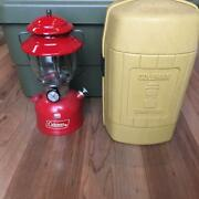 Coleman 200a Lantern Vintage Red 1977 From Japan W / Case
