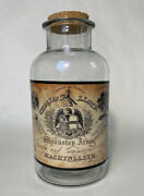 """Vintage Style Decorative Apothecary Glass Jar With Cork 8"""" Tall"""