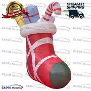 11.5ft Inflatable Christmas Stocking Of Gifts Holiday Promotion With Air Blower
