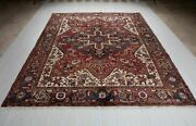 Vintage Collectible Tribal Area Rug Red 9and039 1 X 7and039 6 Large Oriental Carpet 8x9