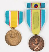 Us Army Nco Named Republic Of Korea War Service Medal Set Ref254