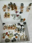 Vintage Plastic Medieval Figures Knights Horses Weapons Shields Lot