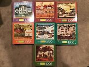 Lot Of 7 Charles Wysocki 1000 Piece Puzzles Free Shipping