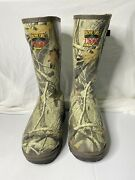 Redhead Bone Dry Rubber Boots Hunting Size 9 - 1200 Grams Thinsulate Rh73756hwd