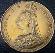 1887 Queen Victoria Jubilee Head London Mint Gold Sovereign Coin In Ms