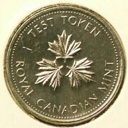 Canada 25 Cents Test Token 1983 Raised I Magnetic Not Listed 6365