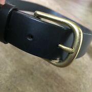 🇺🇸 Auth. Red Wings Black Genuine Leather Size 32 Belt 96504 Brass 1 1/4andrdquo W