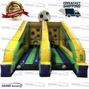 16x10ft Inflatable Soccer Shootout Toss Carnival Sport Game With Air Blower