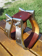 2 Stainless Monel Bell Ranch Roping Cutting Saddle Stirrups