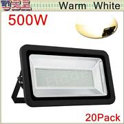 20x500w Led Flood Light Warm White Superbright Waterproof Outdoor Security Work