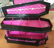 Monster High Draculaura Coffin Bed Furniture Dead Tired Jewelry Box