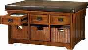 Furniture Of America Victoria 42-inch Wide Storage Entryway Bench With Baskets