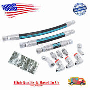 For 94-97 Obs Ford 7.3l Powerstroke Replacemen Hpop Oil Hoses Set With Crossover