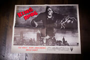 King Kong Rko 18.5 X 24.5 Movie Poster Rerelease 1960and039s