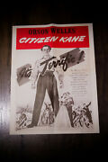 Citizen Kane Rko 18.5 X 24.5 Movie Poster Rerelease 1960and039s