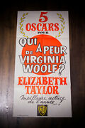 Who's Afraid Of Virginia Woolf 16 X 32 French Movie Poster Original 1967