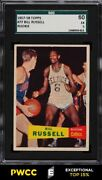 1957 Topps Basketball Bill Russell Rookie Rc 77 Sgc 5 Ex Pwcc-e