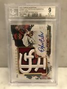 Dylan Carlson 2021 Topps Inception Jumbo Hat Team Logo Rc Patch Auto 4/5 Bgs 9