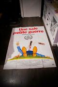 Funny Dirty Little War 4x6 Ft Vintage French Grande Movie Poster Original 1983