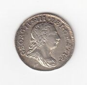 1772 Great Britain Maudy 2 Pence Silver Coin - George Iii - Vf/ef